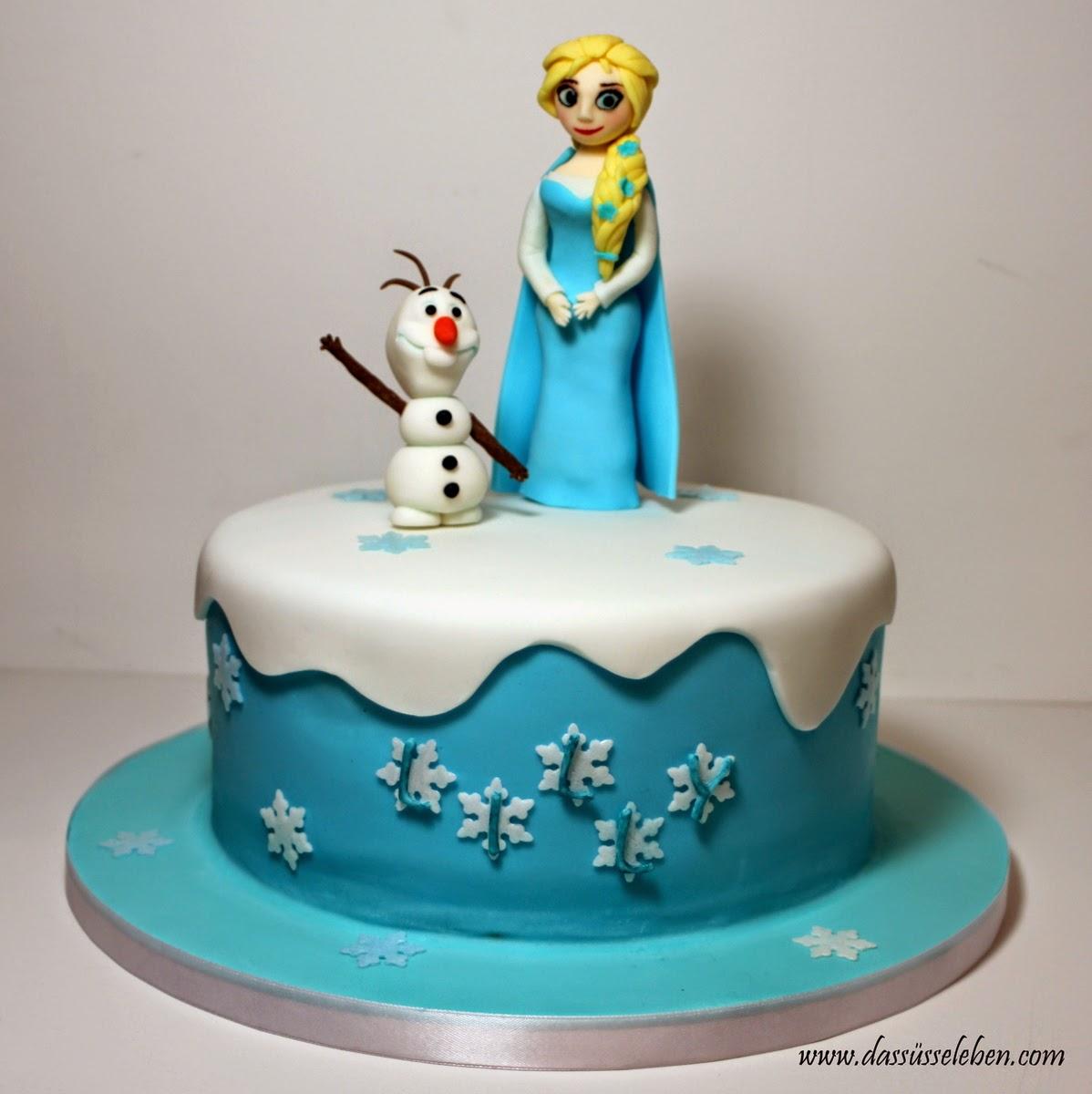 Rezept Die Eiskonigin Elsa Und Olaf Auf Einer Torte Das Susse Leben