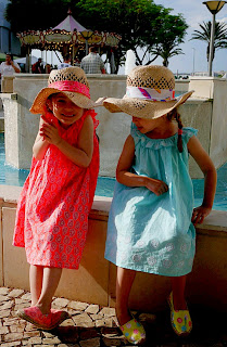 the girls in their cotton dresses
