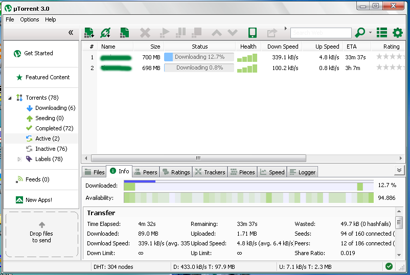 How to Increase uTorrent, BitTorrent Download Speed