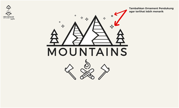 simple logo - mountains let's go climbing