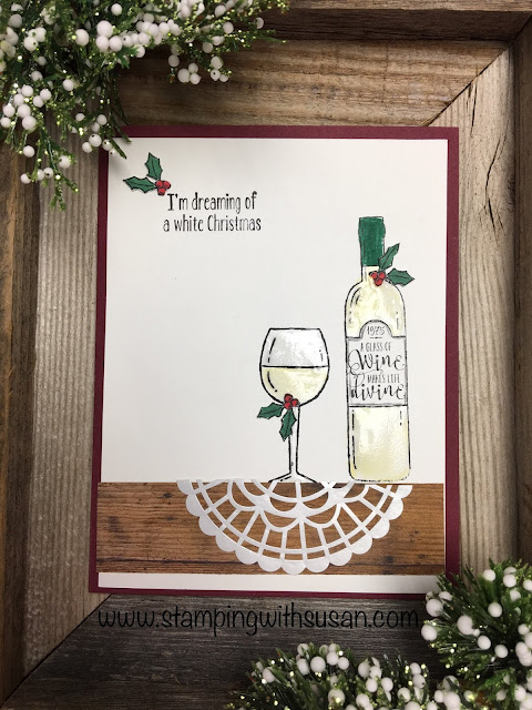 Stampin' Up!, Half Full, www.stampingwithsusan.com,Fine Tip Glue Pen, Pearlized Doilies