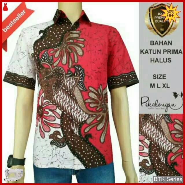 Grosir Hem Batik Murah: BTK135 Baju Hem Batik Kelopak Modis Murah BMGShop