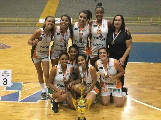 Meninas do Basquete Avareense levam 3o lugar nos Jogos Abertos da Juventude 2018