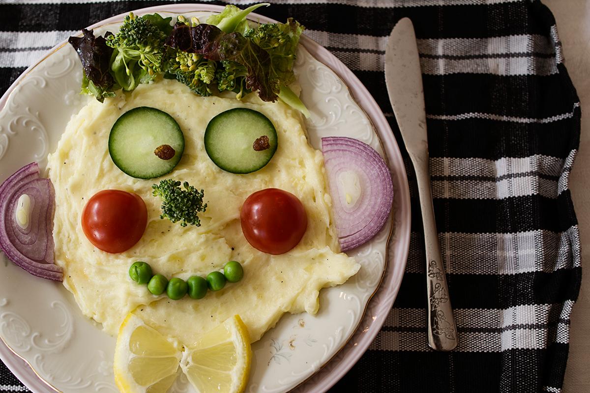 Ansikte av potatismos
