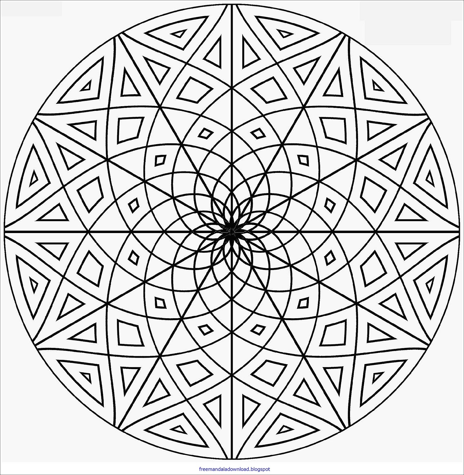 Komplizierte Mandala Malvorlagen - Free Mandala