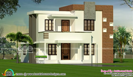4 bedroom flat roof modern house 1300 sq-ft