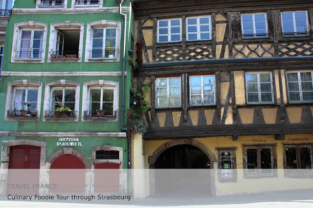 Travel France. Culinary Foodie Tour through Strasbourg