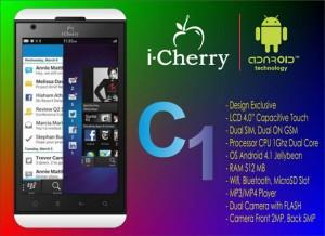 Spesifikasi dan Harga Hp i-Cherry C1 Terbaru 2013