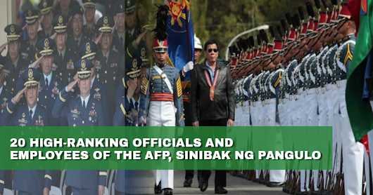 Pres. Duterte fires 20 ranking military officials over corruption - GET IN