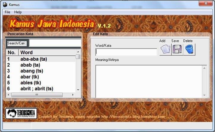 Aplikasi Kamus Jawa Indonesia
