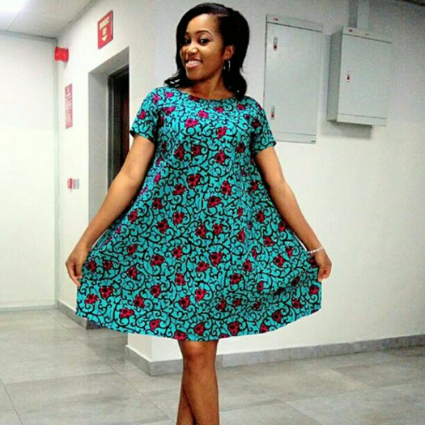 Simple ankara style that will help you hide big tummy
