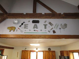 Decorating an old barn takes time and patience to find just the right items.  Check out some of the latest decorations I have found on my blog at A Glimpse of Normal.