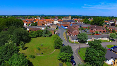 Bird's eye picture: The Market town of Brigg in North Lincolnshire taken by Neil Stapleton - used on Nigel Fisher's Brigg Blog in December 2018
