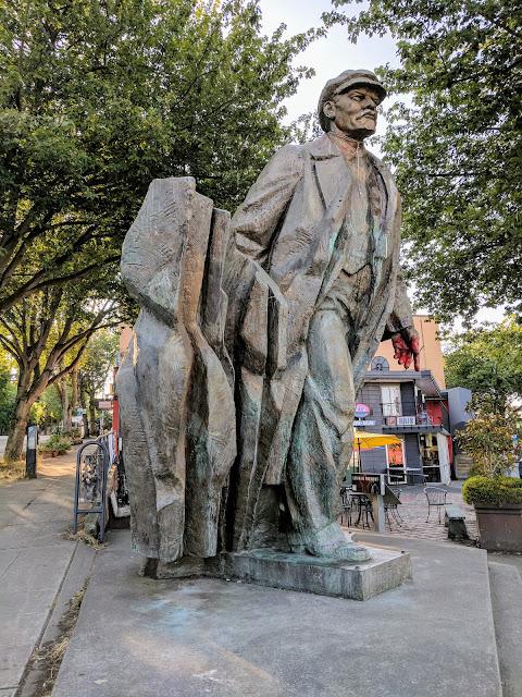 Statue of Lenin in Seattle's Fremont neighborhood