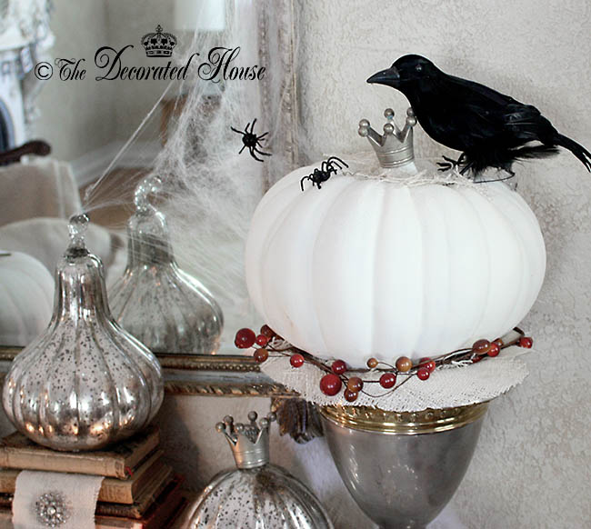 The Decorated House - Halloween Decorating White Chalk Paint with Black and Silver