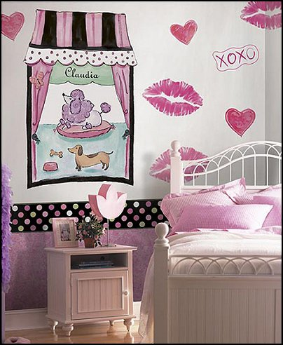 pink poodles paris style bedroom decorating paris style