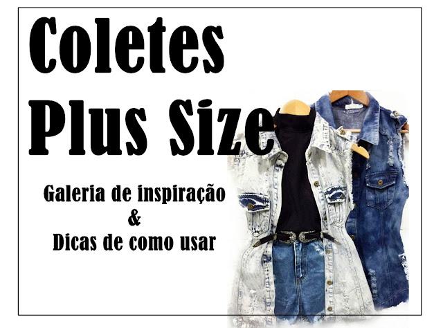 como usar colete jeans plus size