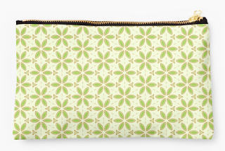 Green Flowers Pouch