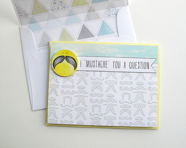 Free mustache card Silhouette print & cut file - from mel stampz