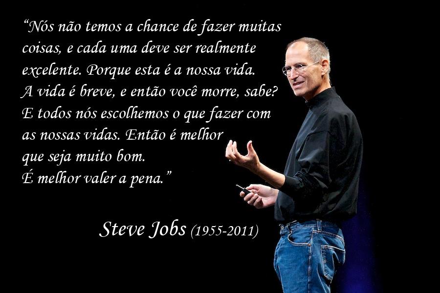 Frases De Autoajuda: Mensagens Da Net: Frases De Steve Jobs De Auto Ajuda