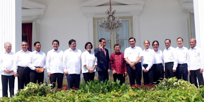 Inilah Daftar Menteri Hasil Reshuffle Jilid 2, Kabinet Jokowi JK
