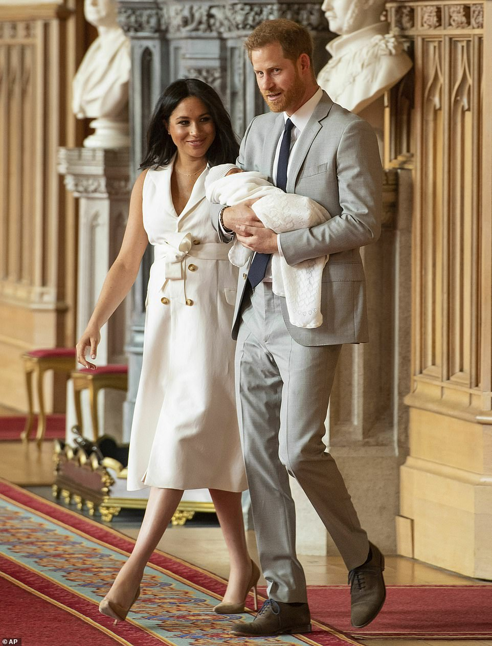 Prince Harry and Meghan Markle debut Baby Sussex