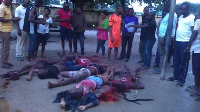 Graphic photos of militants killed by military men in Rivers state