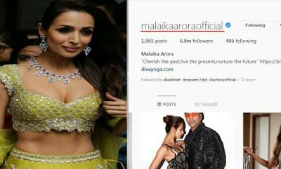 Malaika Arora Instagram name change