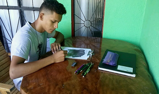 Jovem do sítio mostra talento ao fazer desenhos realistas incríveis!