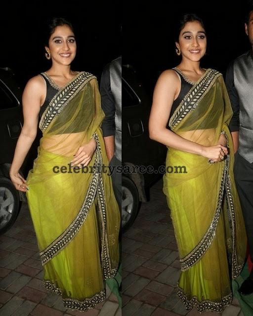 Regina Green Net Saree