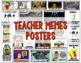 Teacher and student meme posters bundle.