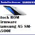 Stock ROM Firmware  Samsung A5 SM-A500F