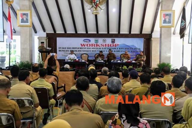 Plt Bupati Buka Workshop Evaluasi Implementasi Sistem Tata Kelola Keuangan Desa