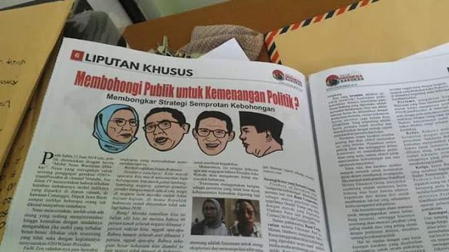 Tabloid Fitnah Disebar ke Masjid, Tim Prabowo: Jika Benar, Menunjukkan Ada yang Panik