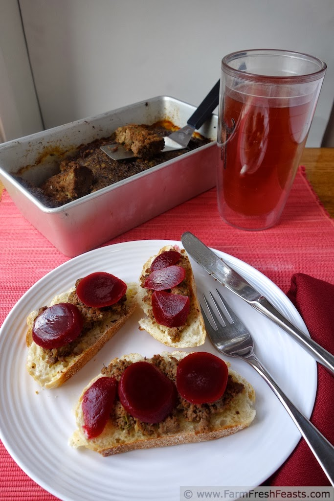 Open Faced Liver Paté LeverPostej Meatloaf Sandwiches | Farm Fresh Feasts