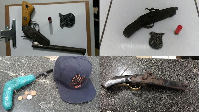 Polícia Militar apreende 04 armas de fabricação caseira em Chapadinha.