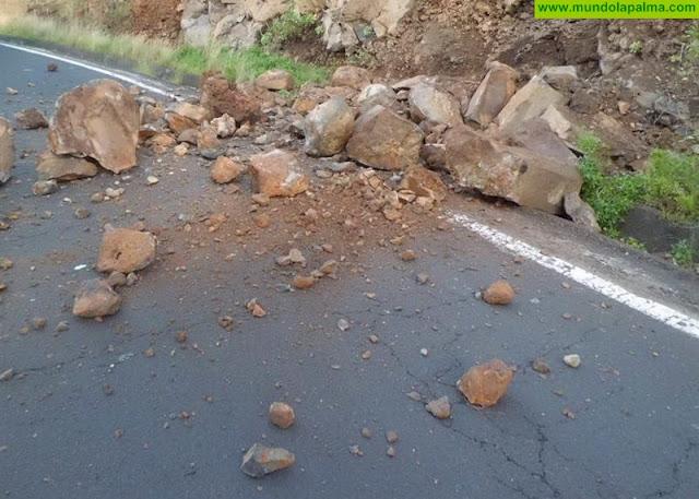 Derrumbe en Tijarafe por las Lluvias