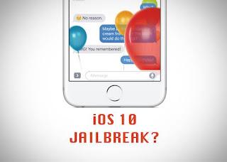 Status Jailbreak Untuk iOS 10 di iPhone dan iPad