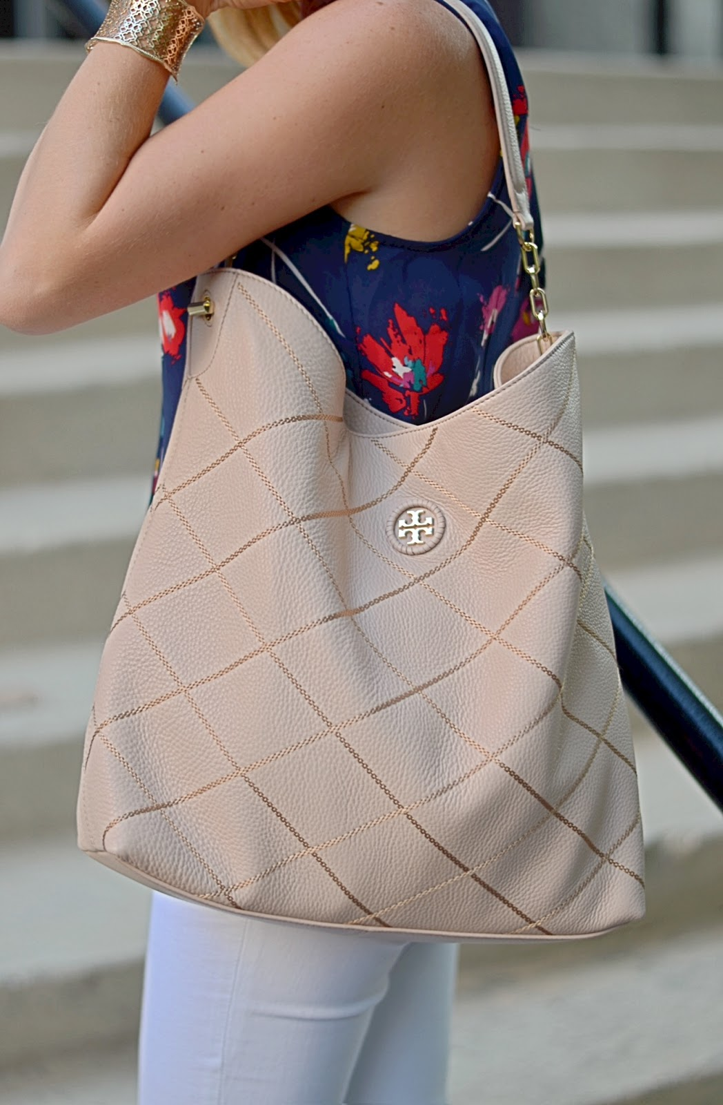 Tory Burch Diamond Stitch Hobo