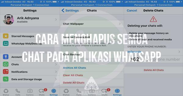 Cara Menghapus Semua Chat di Whatsapp Messenger