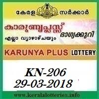 KARUNYA PLUS (KN-206) LOTTERY RESULT