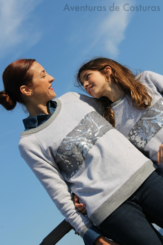Mother-Daughter Sequinned Sweaters
