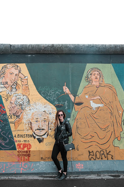 Alicia Mara at the Berlin Wall during Royal Caribbean Cruise