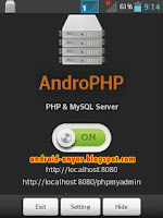 Download AndroPHP: Localhost, PHP & MySql Server Android