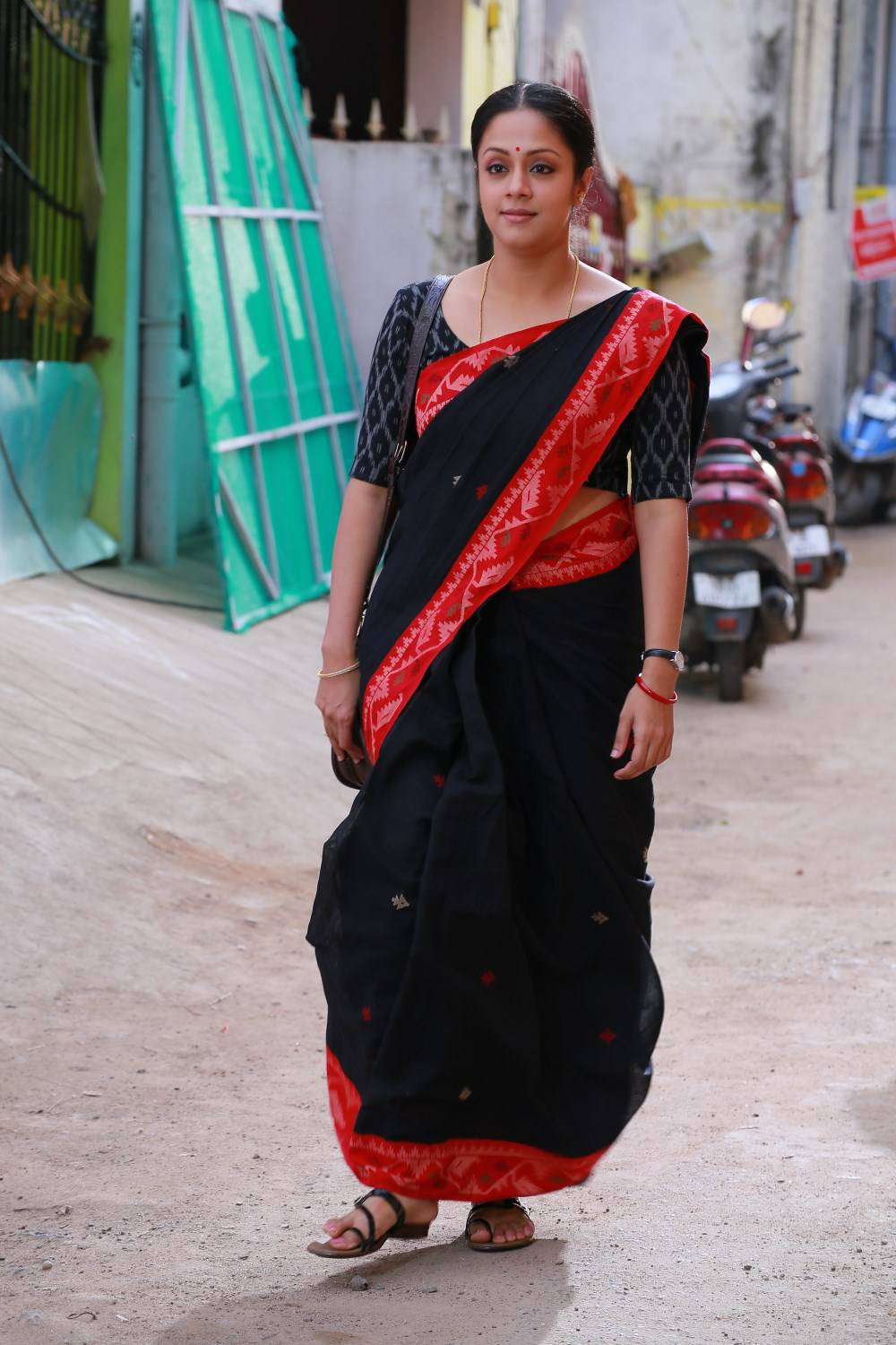 Kollywood Actress Jyothika Photos In Black Saree