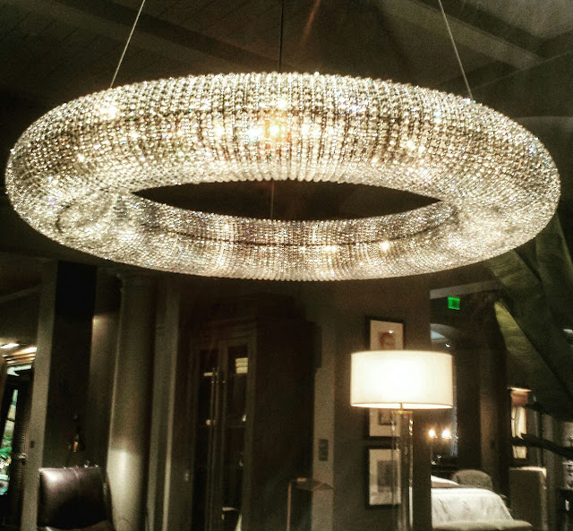 Restoration Hardware crystal circle chandelier