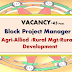 Block project Manager Vacancy in JEEViKA-December 2016