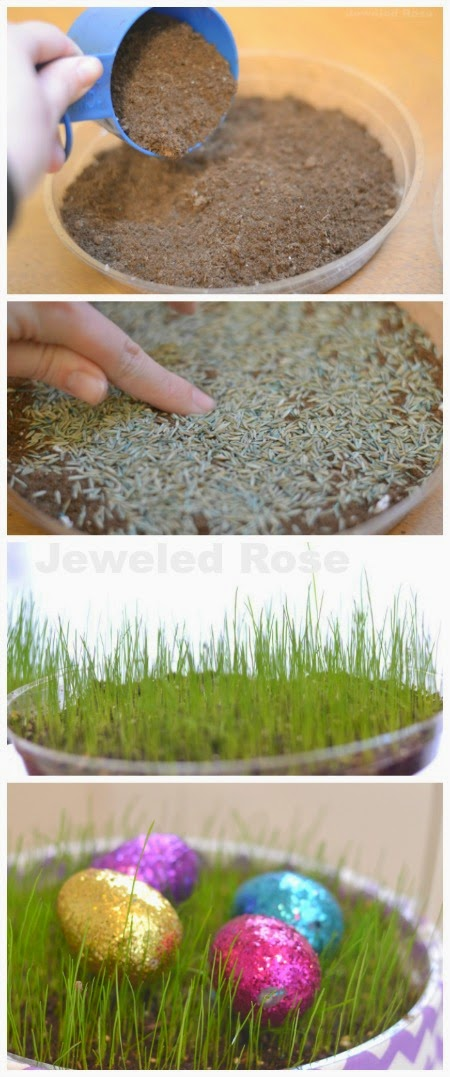 EASTER CRAFT FOR KIDS: Grow your own Easter basket grass (My kids loved this!) #eastercraftsforkids #easteractivitiesforkids #easterbasketideas #easterbaskets #eastercrafts #easteractivities #craftsforkids #activitiesforkids