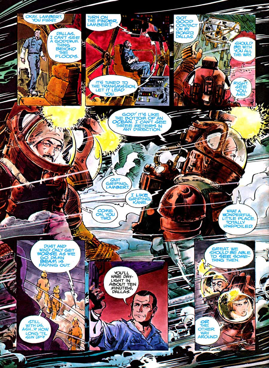 Alien: The Illustrated Story - Walt Simonson movie adaptation graphic novel page art
