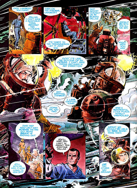 Alien: The Illustrated Story - Walt Simonson movie adaptation graphic novel page art
